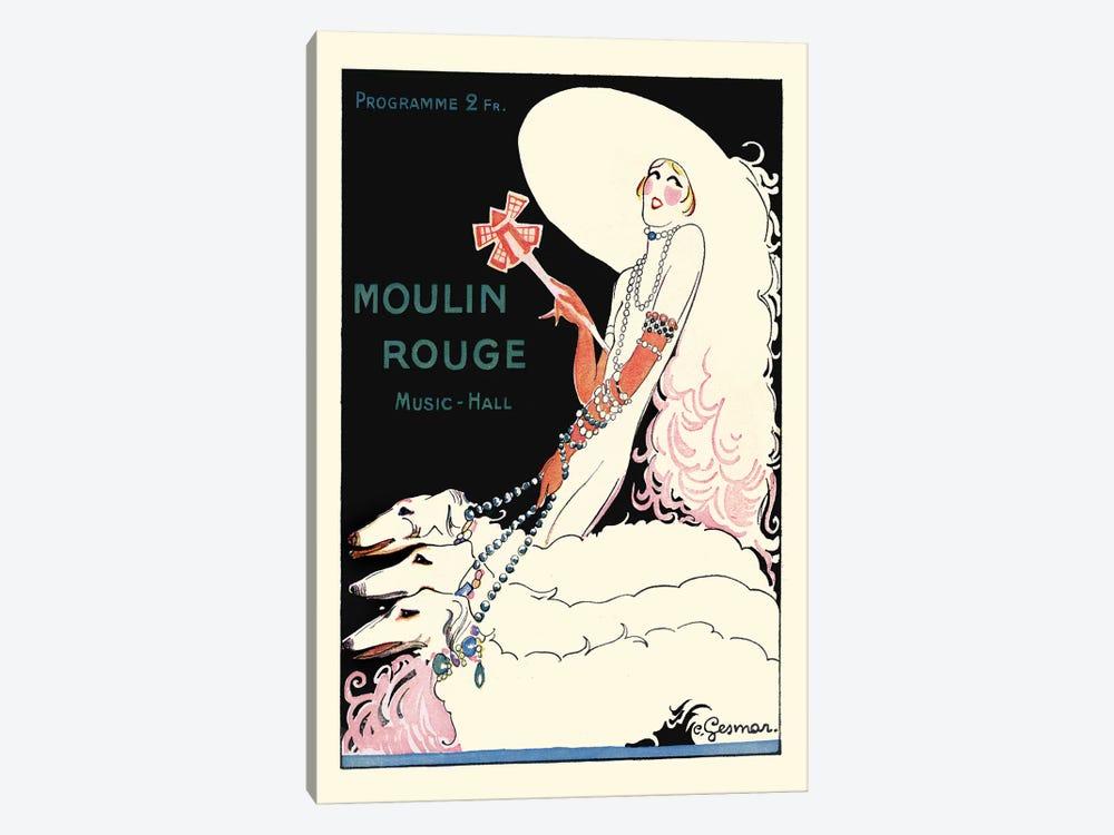 Moulin Rouge Music-Hall Programme: Paris Qui Tourne, 1920s by Charles Gesmar 1-piece Canvas Artwork