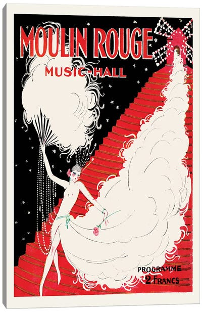 Moulin Rouge, Music-Hall Programme, 1920 Canvas Art Print