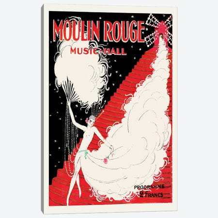 Moulin Rouge, Music-Hall Programme, 1920 Canvas Print #CGE8} by Charles Gesmar Canvas Art Print