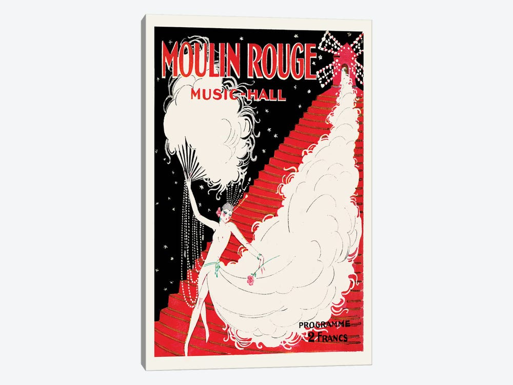 Moulin Rouge, Music-Hall Programme, 1920 by Charles Gesmar 1-piece Canvas Print