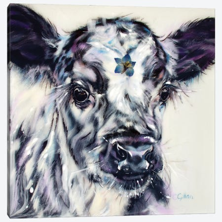 Wonder Moo Canvas Print #CGL50} by Carol Gillan Art Print