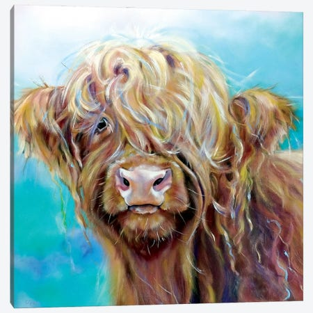 Highland Coo Canvas Print #CGL73} by Carol Gillan Canvas Art Print