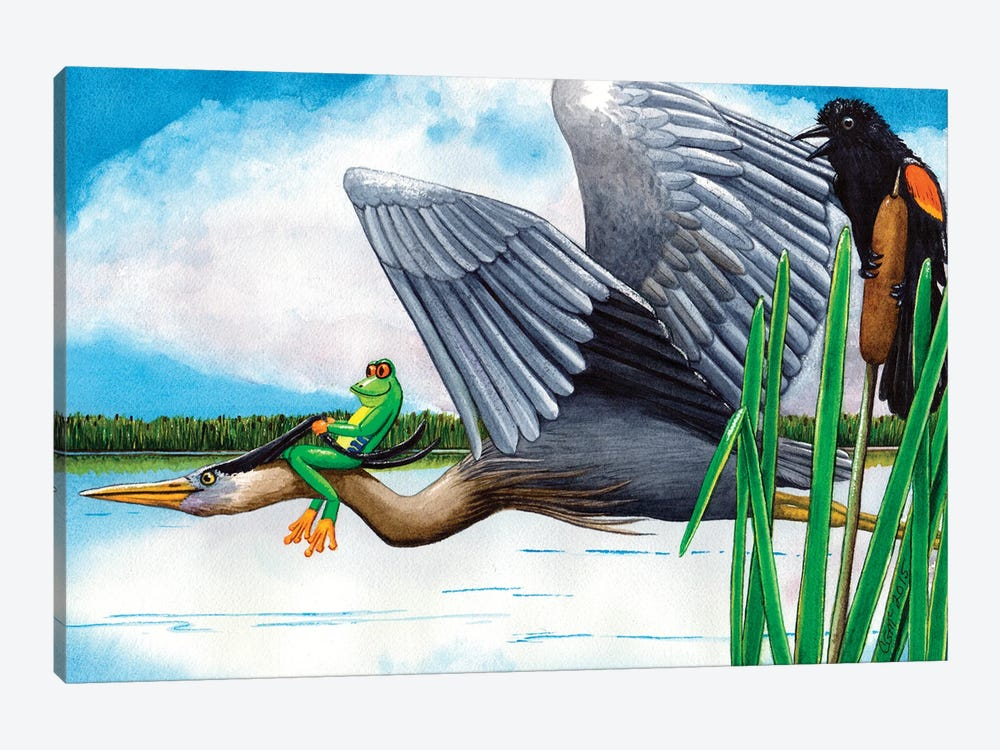 The Fly By! by Catherine G McElroy 1-piece Art Print