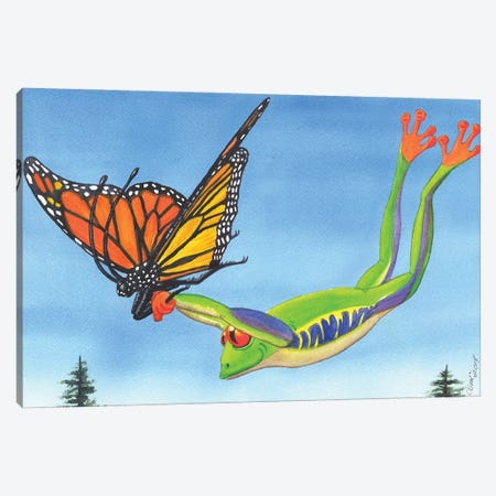 The Hang Glider Canvas Print #CGM107} by Catherine G McElroy Canvas Artwork