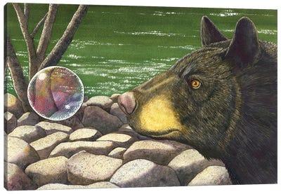 Bear Bubble Canvas Art Print