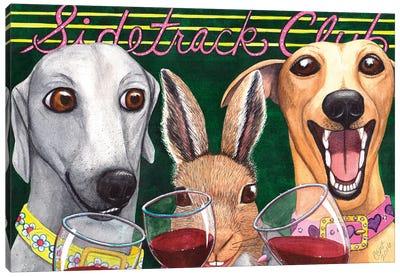 Wining With The Rabbit! Canvas Art Print