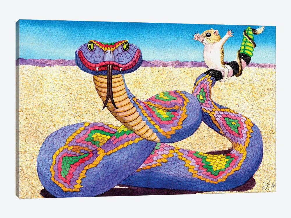 Wrangled Rainbow Rattler! by Catherine G McElroy 1-piece Canvas Wall Art