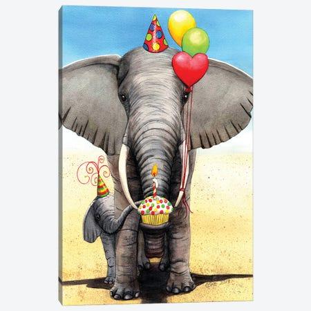 Birthday Elephant Canvas Print #CGM16} by Catherine G McElroy Canvas Print