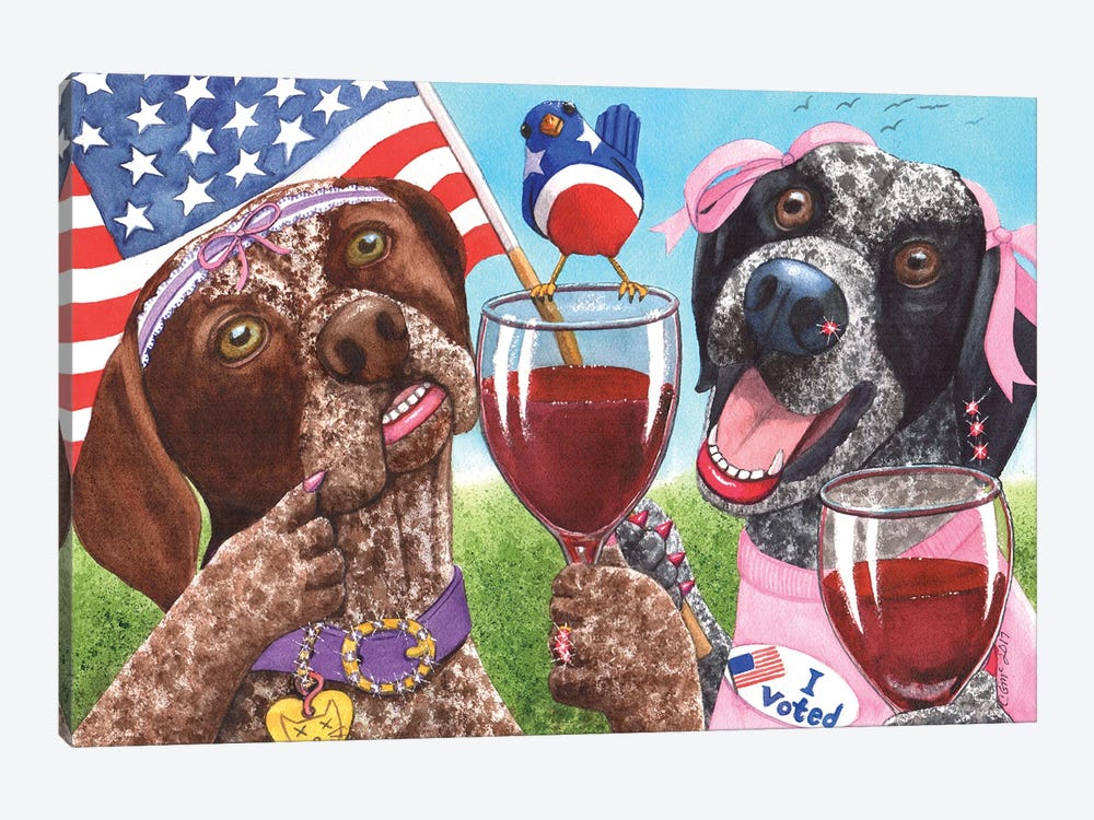 Can't Wine If You Don't Vote by Catherine G McElroy 1-piece Art Print