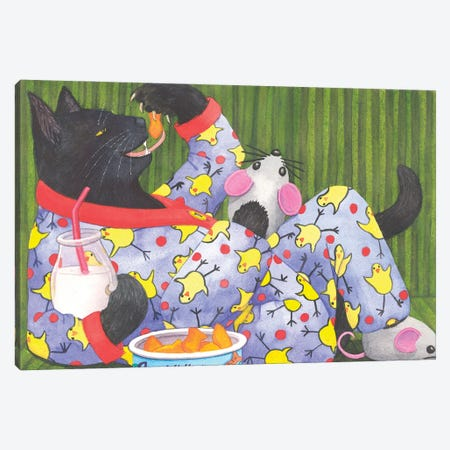 Cat's Pajamas Canvas Print #CGM26} by Catherine G McElroy Canvas Wall Art
