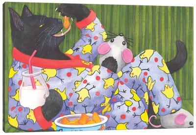 Cat's Pajamas Canvas Art Print