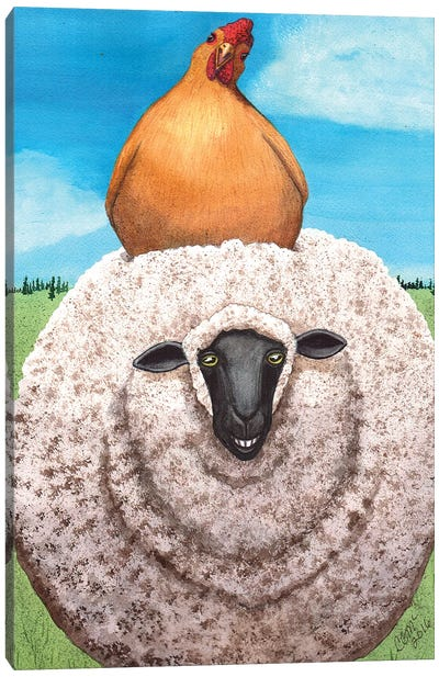 Cluck Ewe! Canvas Art Print