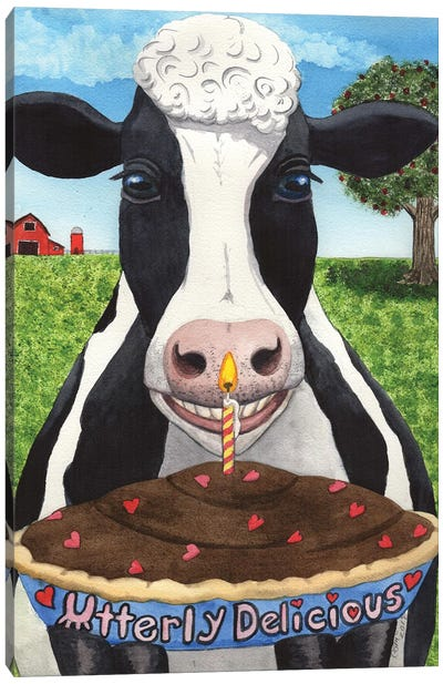 Cows Pie Canvas Art Print