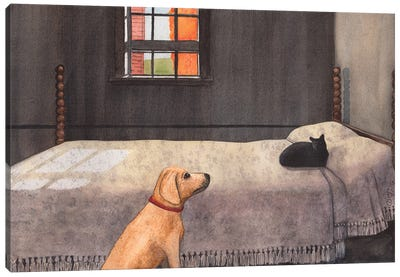 Effing Cat Canvas Art Print