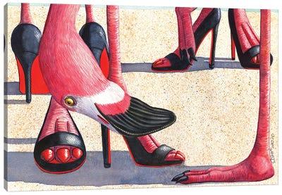Flamingo Heels Canvas Art Print
