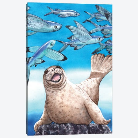 Flock Of Fish Canvas Print #CGM39} by Catherine G McElroy Canvas Wall Art