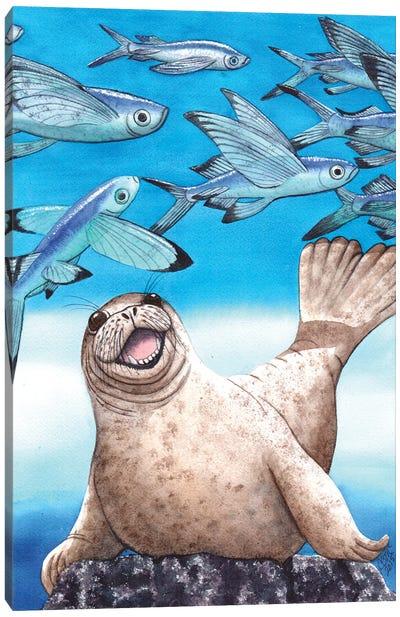 Flock Of Fish Canvas Art Print