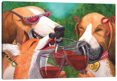 Foxy Winers Canvas Art Print