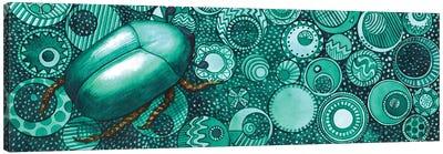 Green Beetle Canvas Art Print