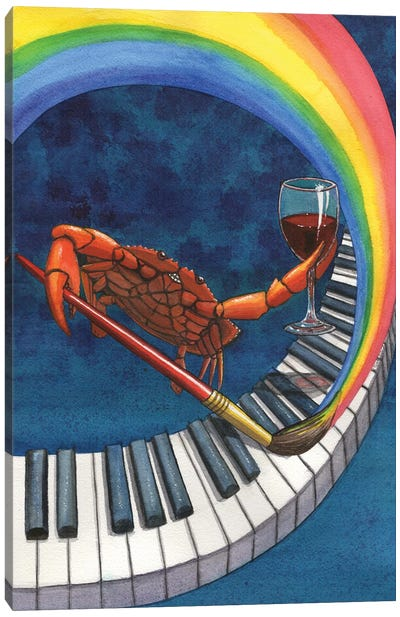 Happy Crab Canvas Art Print