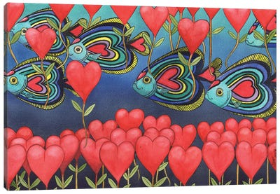 Heart Fish. Canvas Art Print