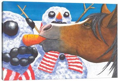 Horse Got Your Nose? Canvas Art Print