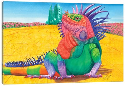 Lizard Of Oz. Canvas Art Print