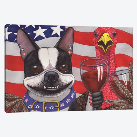 All American Wieners Canvas Print #CGM5} by Catherine G McElroy Canvas Wall Art