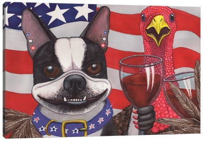 All American Wieners Canvas Art Print