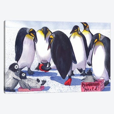 Pinguino Heels Canvas Print #CGM75} by Catherine G McElroy Canvas Print