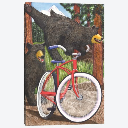 Red Bike Canvas Print #CGM82} by Catherine G McElroy Canvas Print