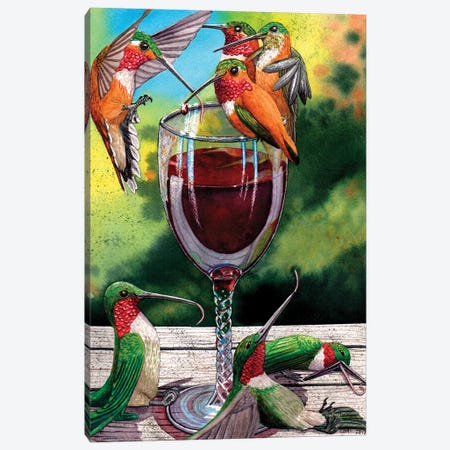 Red Winos. Canvas Print #CGM84} by Catherine G McElroy Canvas Art