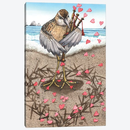 Sandpiper Canvas Print #CGM86} by Catherine G McElroy Canvas Wall Art