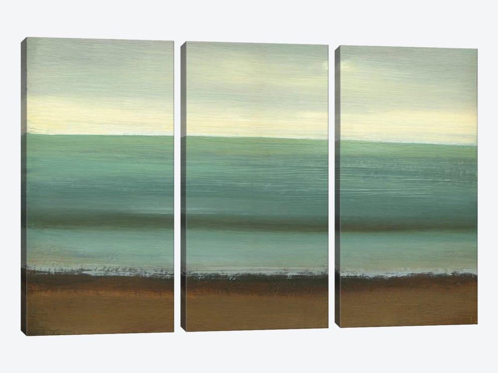Calm Sea by Caroline Gold 3-piece Canvas Print