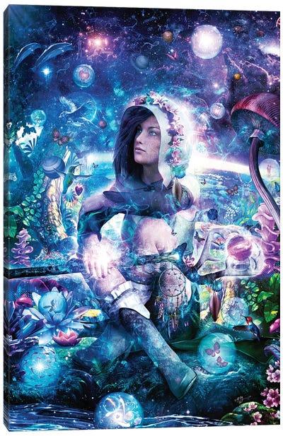 Observing Our Celestial Synergy Canvas Art Print