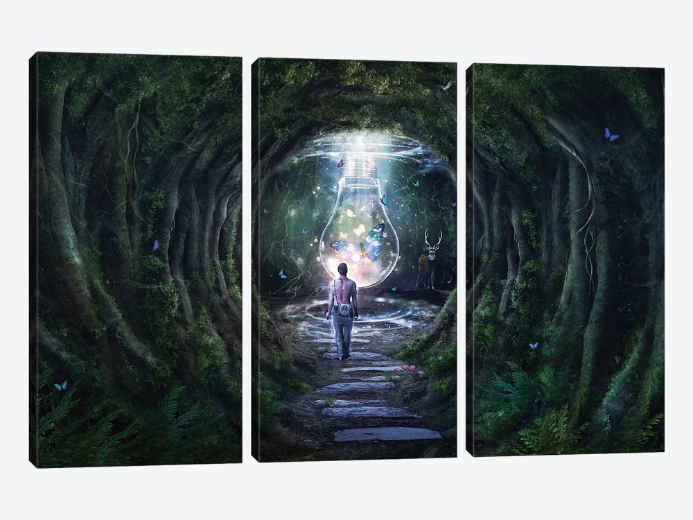 Stay For A Moment by Cameron Gray 3-piece Canvas Art Print