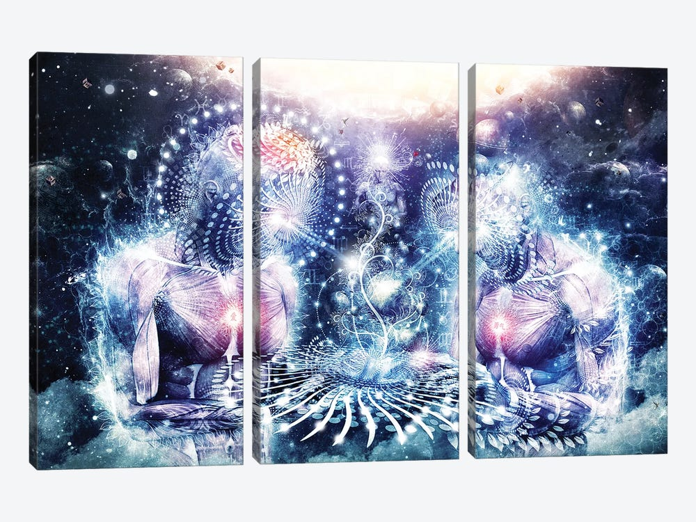 The Knowledge Of The Planets by Cameron Gray 3-piece Canvas Print