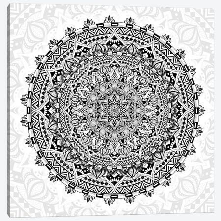 Mandala Love Canvas Print #CGR36} by Cameron Gray Canvas Wall Art