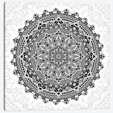 Mandala Love Canvas Print #CGR36} by Cameron Gray Canvas Wall Art
