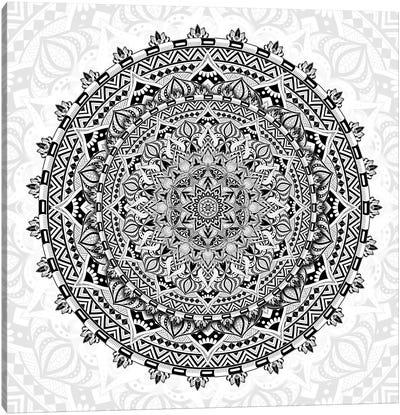 Mandala Love Canvas Art Print