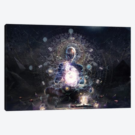The Cosmic Ritual Canvas Print #CGR43} by Cameron Gray Canvas Wall Art