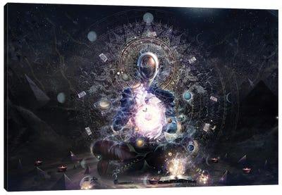 The Cosmic Ritual Canvas Art Print