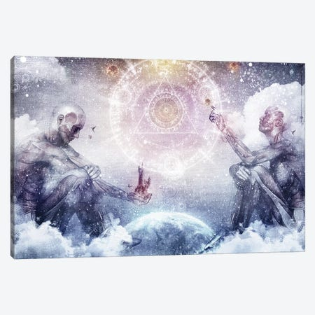 Awake In A Silver Land Canvas Print #CGR4} by Cameron Gray Canvas Artwork