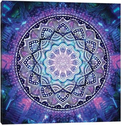 Flower Bloom Mandala Canvas Art Print