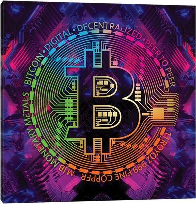 Bitcoin Rainbow Canvas Art Print