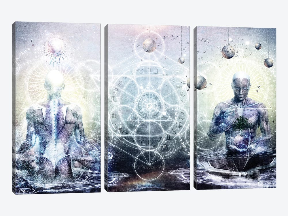 Experience So Lucid Discovery So Clear by Cameron Gray 3-piece Canvas Art Print
