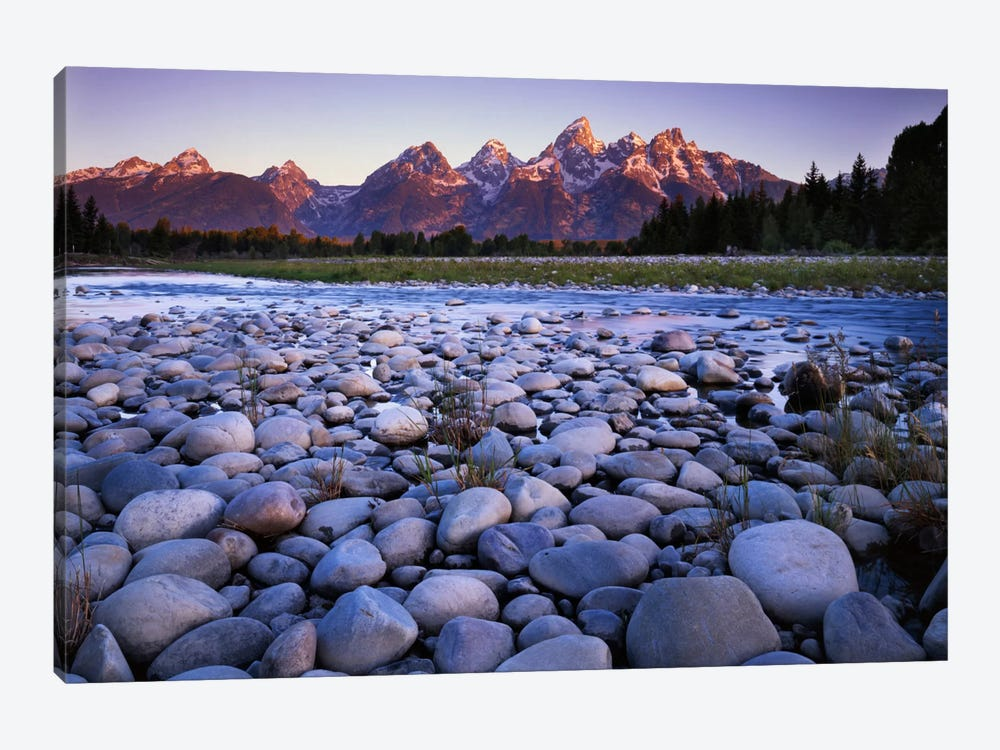 Teton Range As Seen From The Bank Of The Snake River, Grand Teton National Park, Wyoming, USA by Charles Gurche 1-piece Art Print