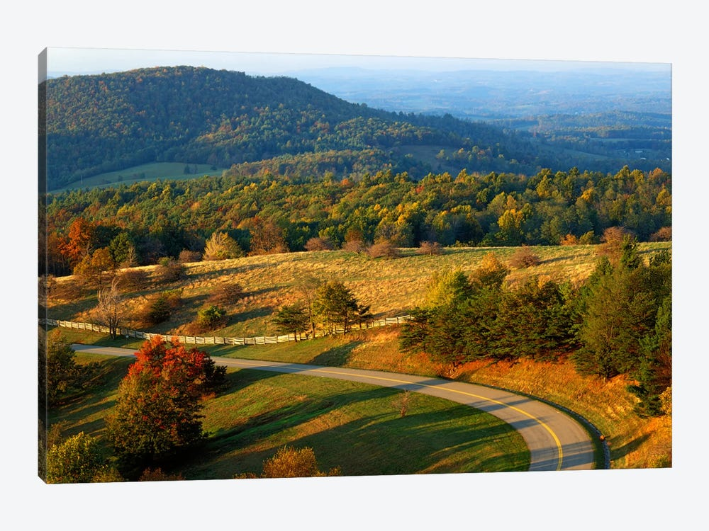 Mountain Landscape I, Blue Ridge Parkway, Patrick County, Virginia, USA by Charles Gurche 1-piece Art Print