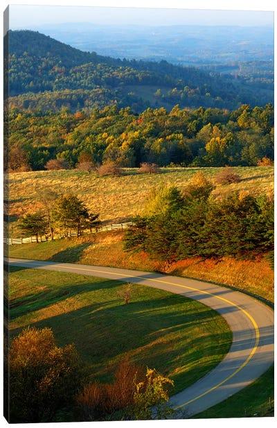 Mountain Landscape II, Blue Ridge Parkway, Patrick County, Virginia, USA Canvas Art Print