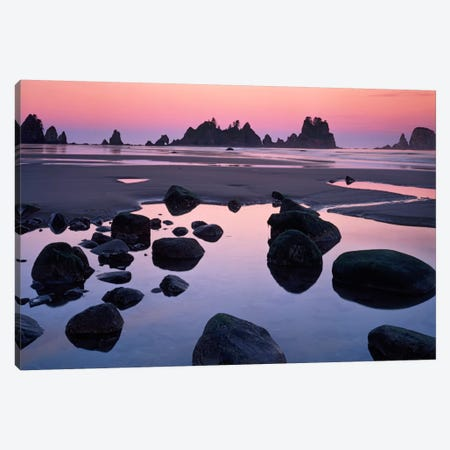 Point Of Arches, Shi Shi Beach, Olympic National Forest, Washington, USA Canvas Print #CGU4} by Charles Gurche Art Print